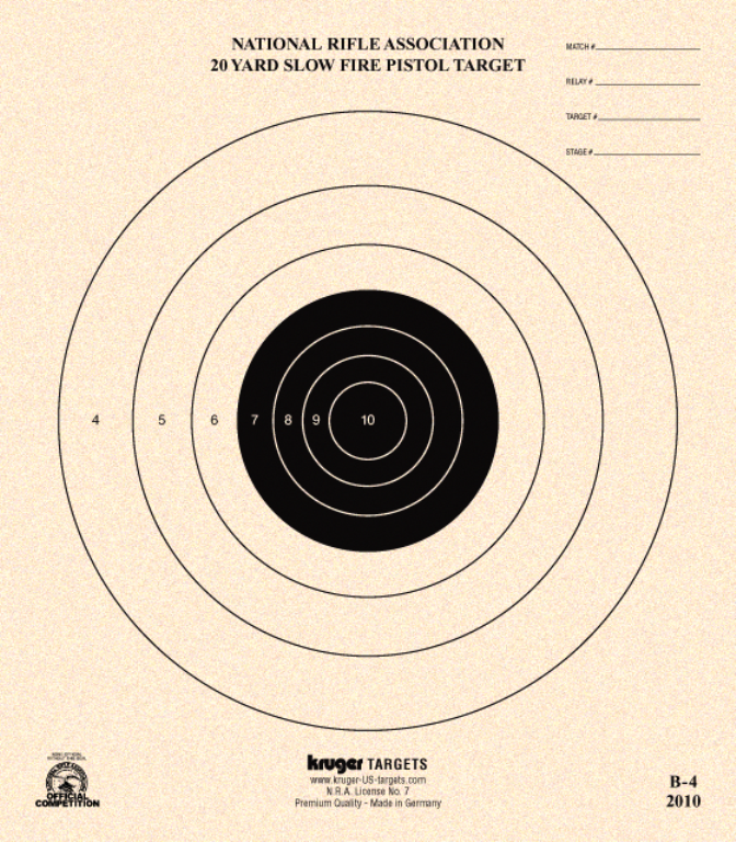 It is a photo of Magic Printable Nra Targets