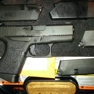 Glock 43 co-registered from my permit